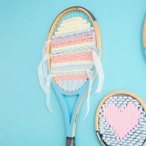 Tuto DIY : Relooker une vieille raquette en tissage mural